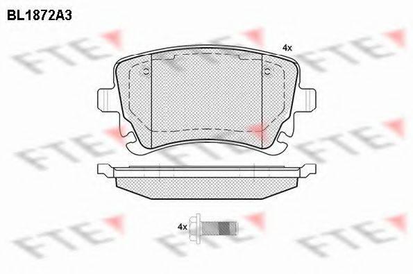 FTE BL1872A3 Комплект тормозных колодок, дисковый тормоз