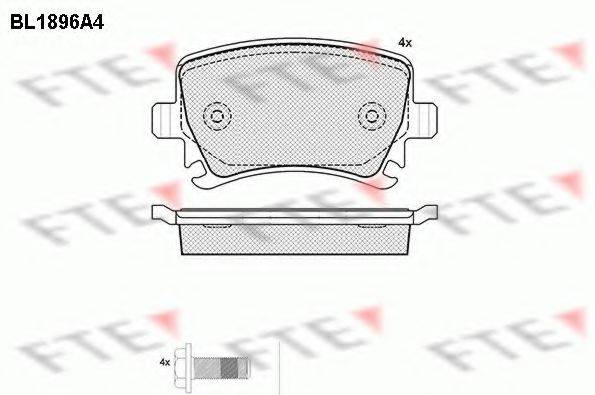 FTE BL1896A4 Комплект тормозных колодок, дисковый тормоз