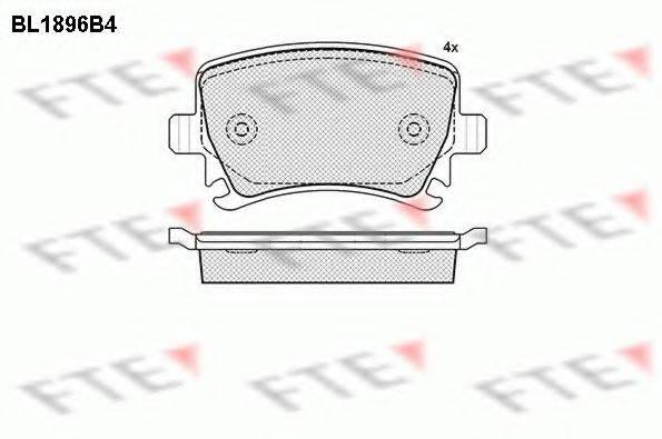 FTE BL1896B4 Комплект тормозных колодок, дисковый тормоз