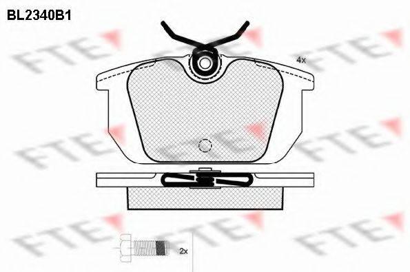 FTE BL2340B1 Комплект тормозных колодок, дисковый тормоз