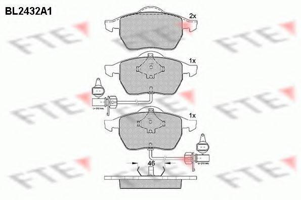 FTE BL2432A1 Комплект тормозных колодок, дисковый тормоз