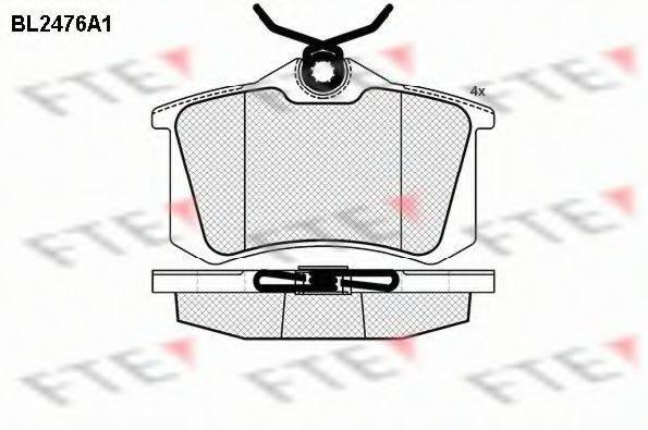FTE BL2476A1 Комплект тормозных колодок, дисковый тормоз