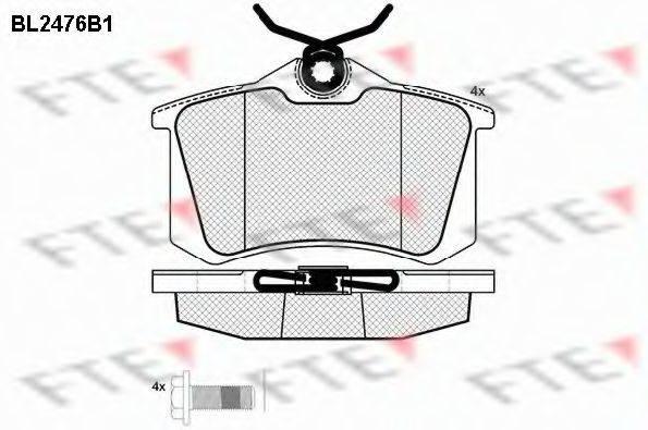 FTE BL2476B1 Комплект тормозных колодок, дисковый тормоз