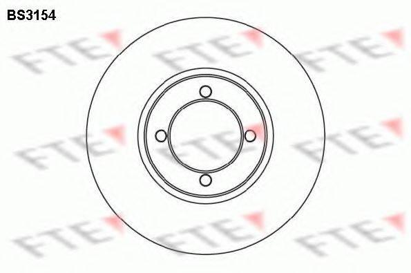 FTE BS3154 Тормозной диск