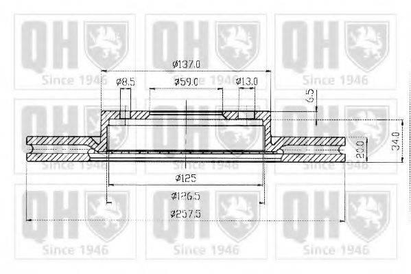 QUINTON HAZELL BDC3593 Тормозной диск