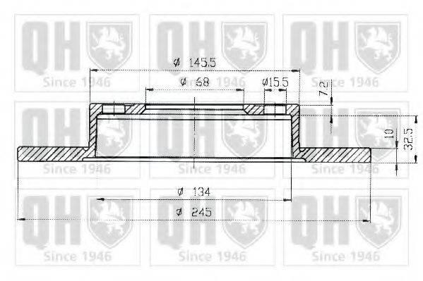 QUINTON HAZELL BDC5307 Тормозной диск