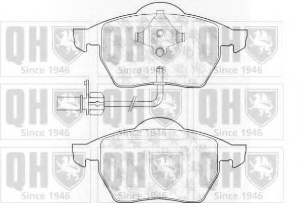 QUINTON HAZELL BP1022 Комплект тормозных колодок, дисковый тормоз