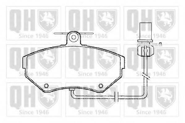 QUINTON HAZELL BP1279 Комплект тормозных колодок, дисковый тормоз