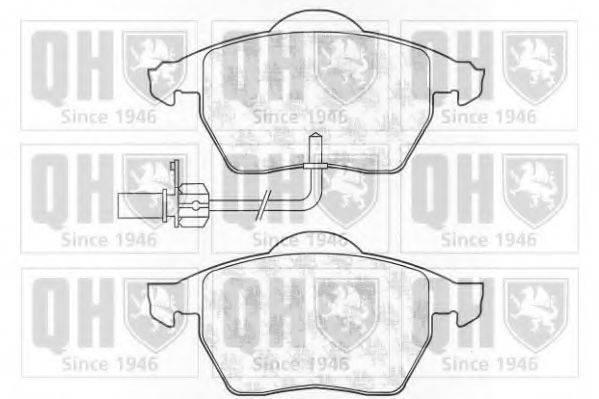 QUINTON HAZELL BP1309 Комплект тормозных колодок, дисковый тормоз