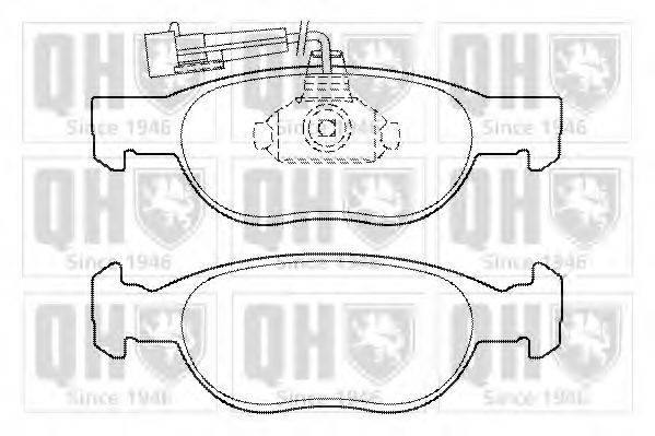 QUINTON HAZELL BP1340 Комплект тормозных колодок, дисковый тормоз