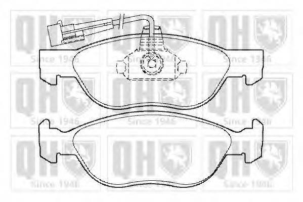 QUINTON HAZELL BP1353 Комплект тормозных колодок, дисковый тормоз