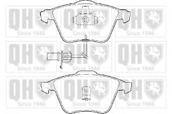 QUINTON HAZELL BP1356 Комплект тормозных колодок, дисковый тормоз