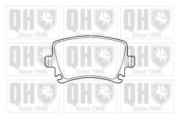QUINTON HAZELL BP1420 Комплект тормозных колодок, дисковый тормоз
