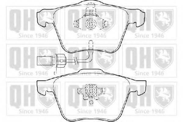 QUINTON HAZELL BP1421 Комплект тормозных колодок, дисковый тормоз