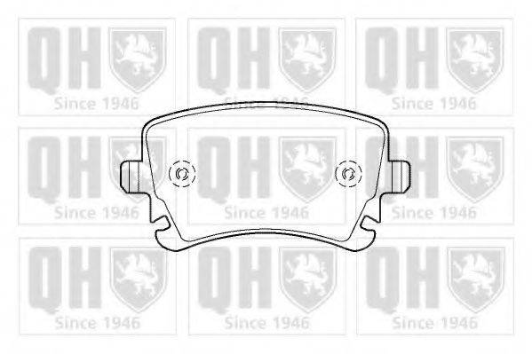 QUINTON HAZELL BP1422 Комплект тормозных колодок, дисковый тормоз
