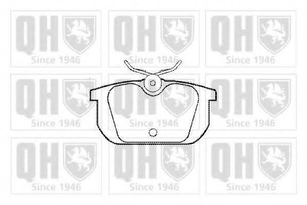 QUINTON HAZELL BP369 Комплект тормозных колодок, дисковый тормоз