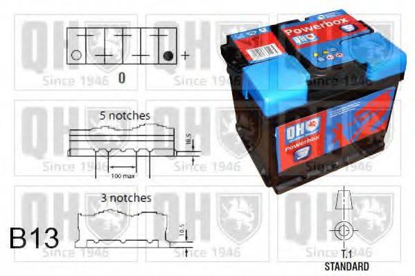 QUINTON HAZELL QBT0193 Стартерная аккумуляторная батарея