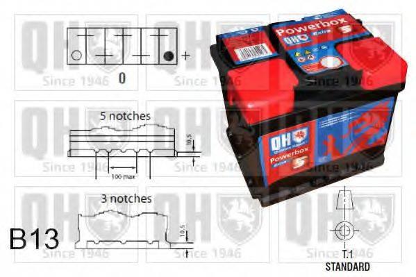 QUINTON HAZELL QBT0195 Стартерная аккумуляторная батарея