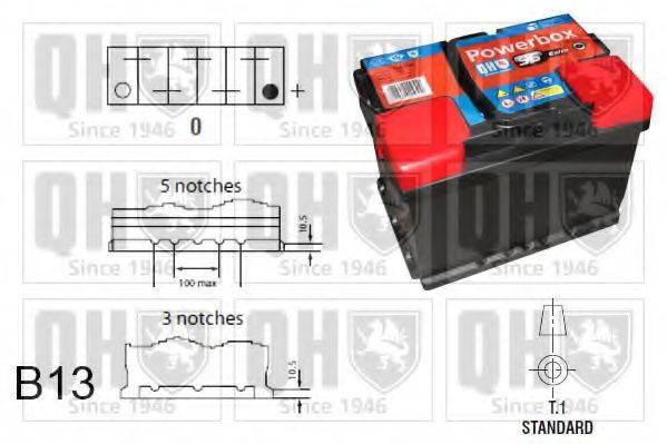 QUINTON HAZELL QBT019AGM Стартерная аккумуляторная батарея