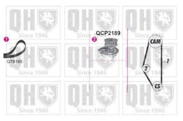 QUINTON HAZELL QBPK9019 Водяной насос + комплект зубчатого ремня