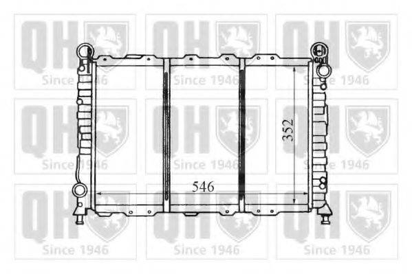 QUINTON HAZELL QER1445 Радиатор, охлаждение двигателя