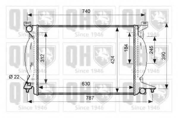 QUINTON HAZELL QER1487 Радиатор, охлаждение двигателя