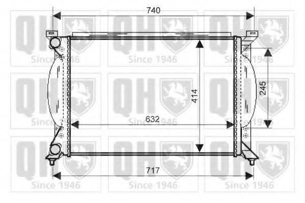 QUINTON HAZELL QER2336 Радиатор, охлаждение двигателя