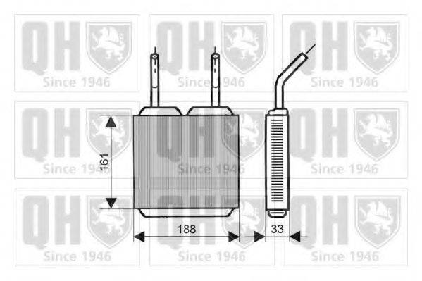 QUINTON HAZELL QHR2026 Теплообменник, отопление салона