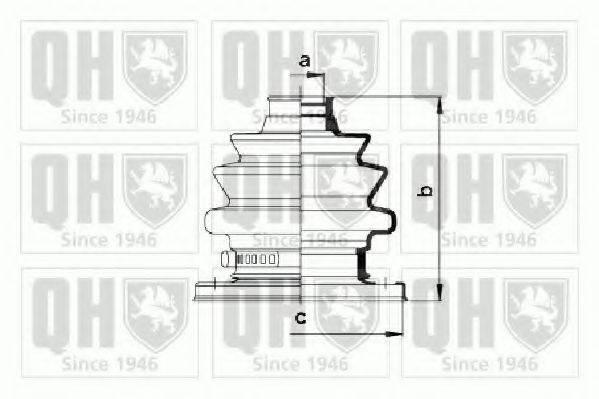 QUINTON HAZELL QJB938 Комплект пылника, приводной вал