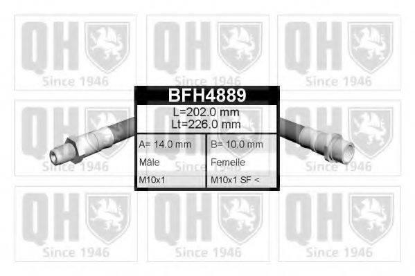 QUINTON HAZELL BFH4889 Тормозной шланг