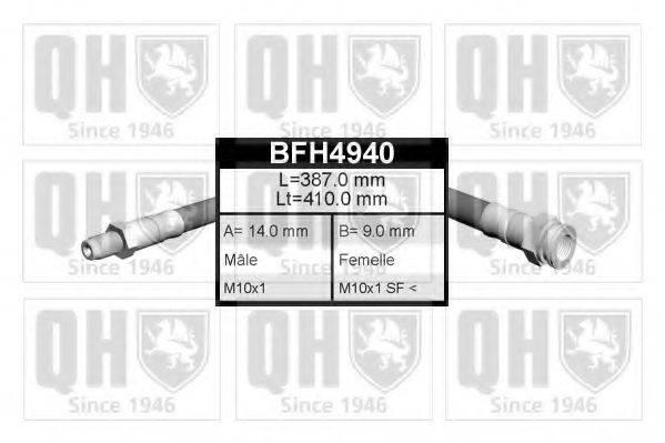 QUINTON HAZELL BFH4940 Тормозной шланг