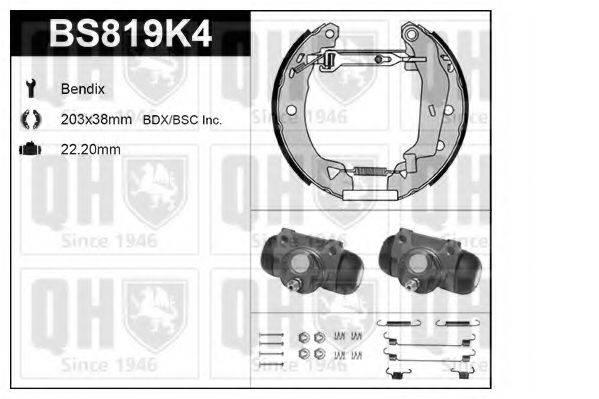 QUINTON HAZELL BS819K4 Комплект тормозов, барабанный тормозной механизм