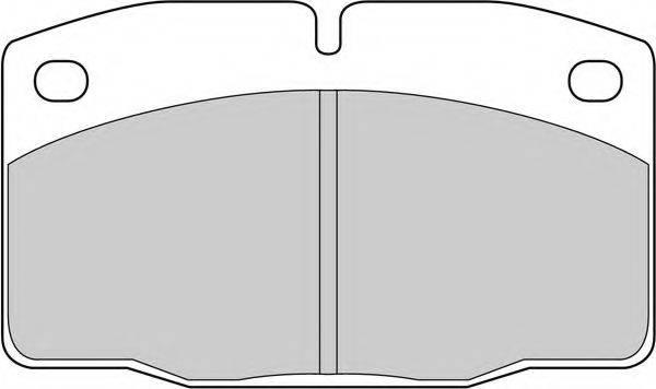 FERODO FDB173E Комплект тормозных колодок, дисковый тормоз