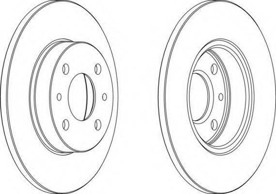 FERODO DDF1401 Тормозной диск