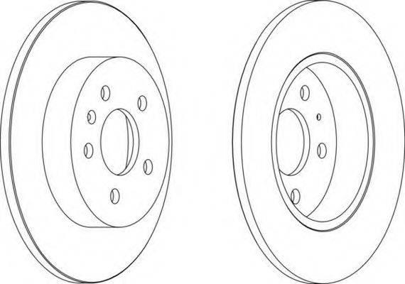 FERODO DDF14231 Тормозной диск
