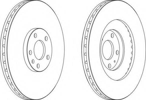FERODO DDF16611 Тормозной диск