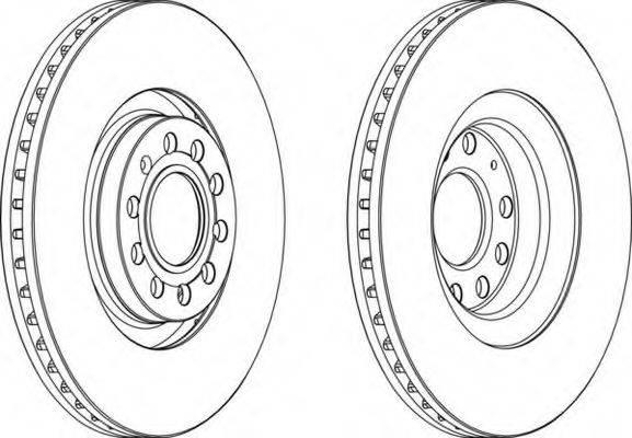 FERODO DDF17051 Тормозной диск