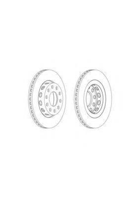 FERODO DDF2181C1 Тормозной диск