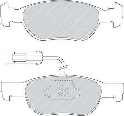 FERODO FDB1040 Комплект тормозных колодок, дисковый тормоз
