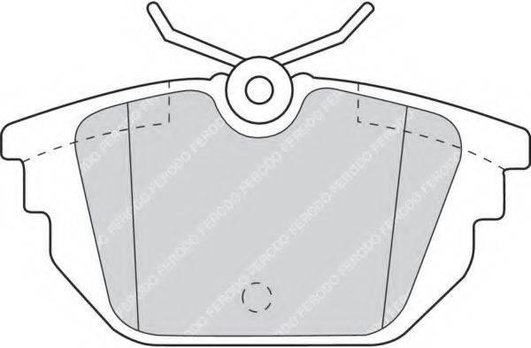 FERODO FDB1113 Комплект тормозных колодок, дисковый тормоз