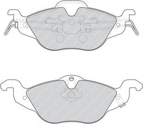 FERODO FDB1293 Комплект тормозных колодок, дисковый тормоз