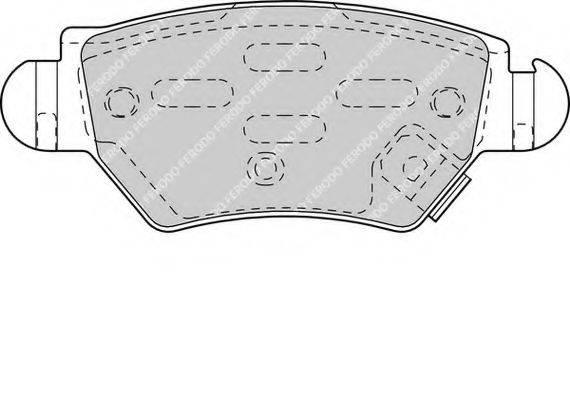 FERODO FDB1294 Комплект тормозных колодок, дисковый тормоз