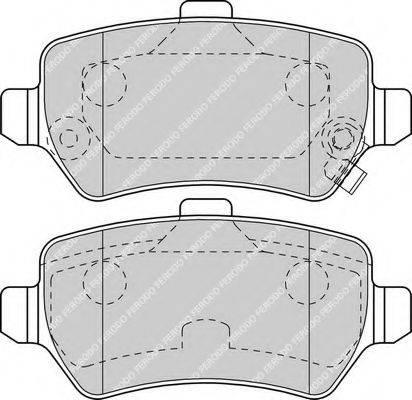 FERODO FDB1521 Комплект тормозных колодок, дисковый тормоз
