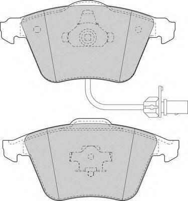 FERODO FDB1629 Комплект тормозных колодок, дисковый тормоз