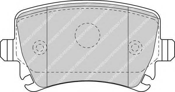 FERODO FDB1636 Комплект тормозных колодок, дисковый тормоз