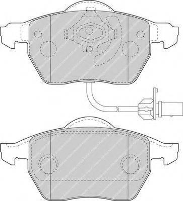 FERODO FDB1717 Комплект тормозных колодок, дисковый тормоз