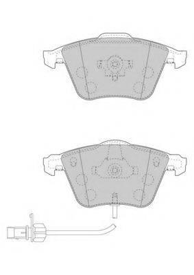 FERODO FDB1827 Комплект тормозных колодок, дисковый тормоз