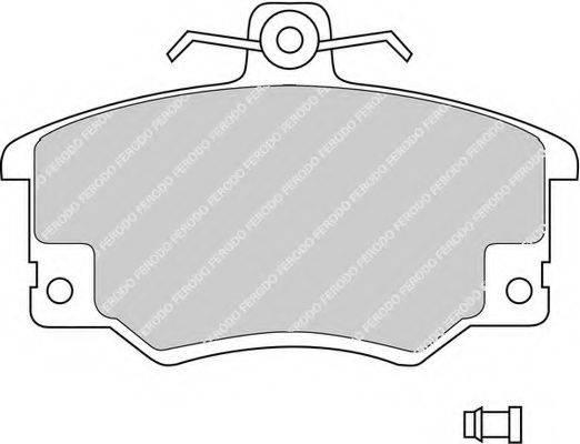 FERODO FDB370 Комплект тормозных колодок, дисковый тормоз