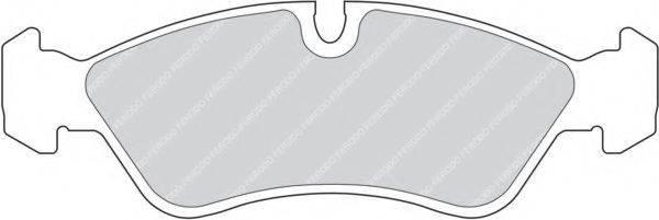FERODO FDB584 Комплект тормозных колодок, дисковый тормоз