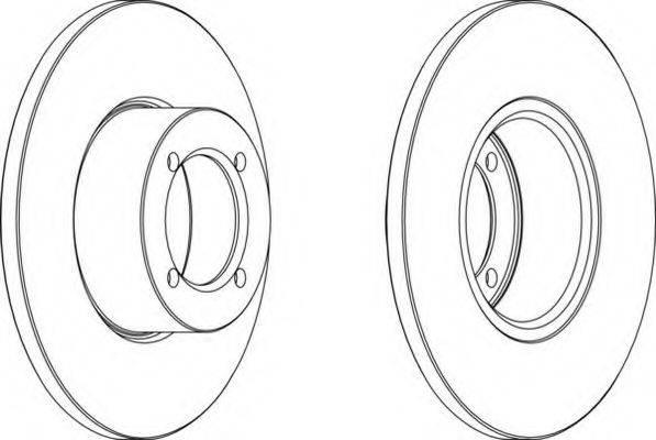 FERODO DDF054 Тормозной диск